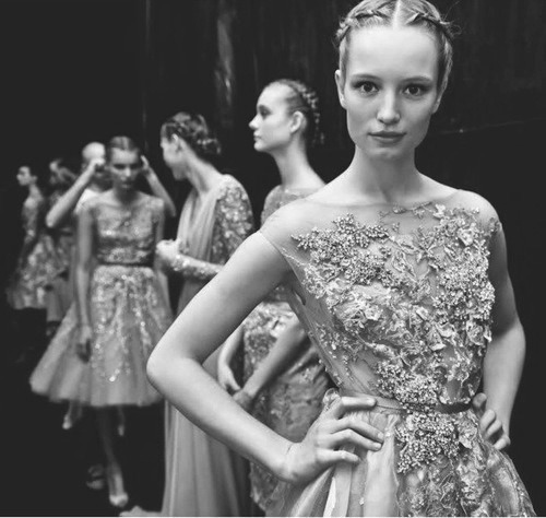 Cool Chic Style Fashion - Backstage at Elie Saab