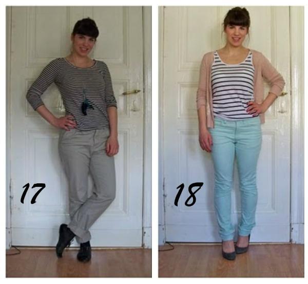 Kleidungsstücke für 30 Tage ergeben 30 verschiedene Outfits Woche 3