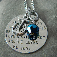 Navy Anchor Necklace1