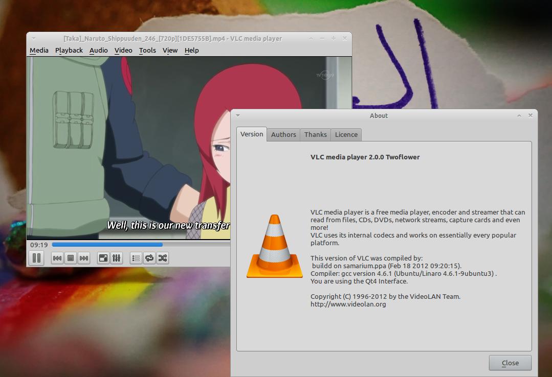 VLC 2.0 'Twoflower' di Ubuntu