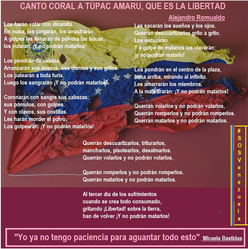 canto coral a tupac amaru que es la libertad: