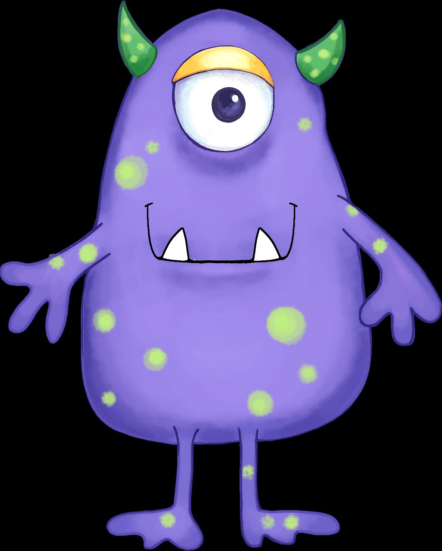 cartoon monster