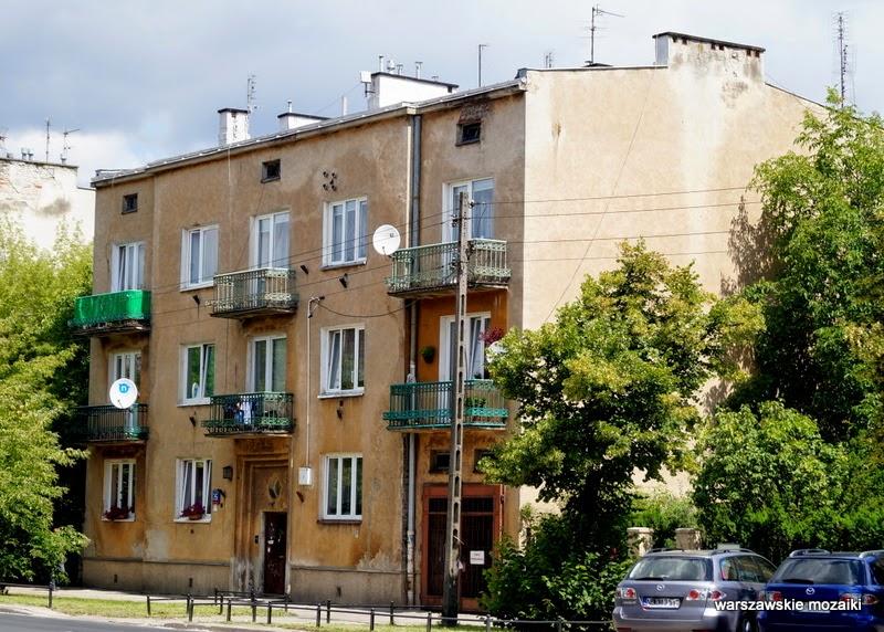 Warszawa Włochy kamienice NKWD Piłsudskiego balkony NKWD