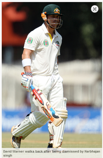 David-Warner-dismissed-by-Harbhajan-singh-IND-vs-AUS-1st-Test