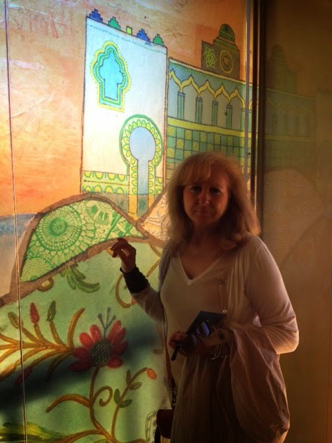Detalle de escaparate de entrada al Castillo de Santa Catalina. 2013 - 17
