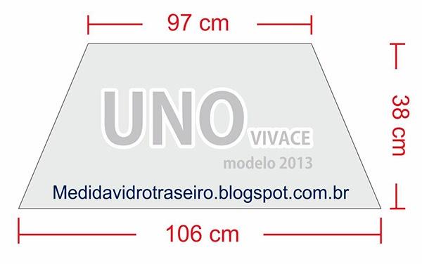 Medida Vidro Traseiro Uno Vivace 2013 Medida Vidro