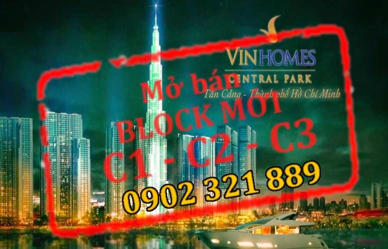 bán căn hộ vinhomes central park block c1, c2, c3