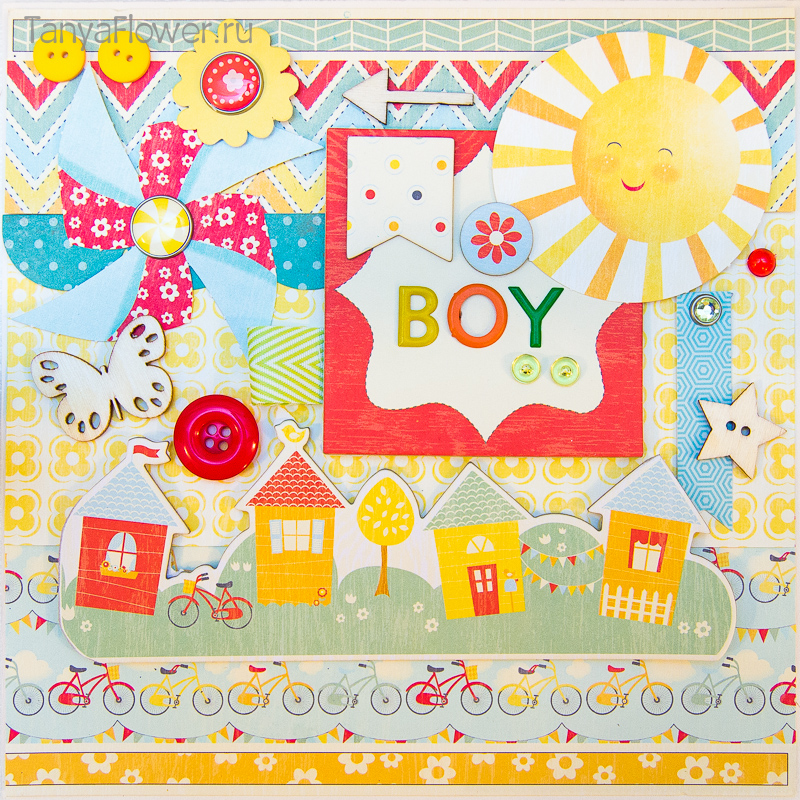 набор для создания фотоальбома на первый год жизни малыша