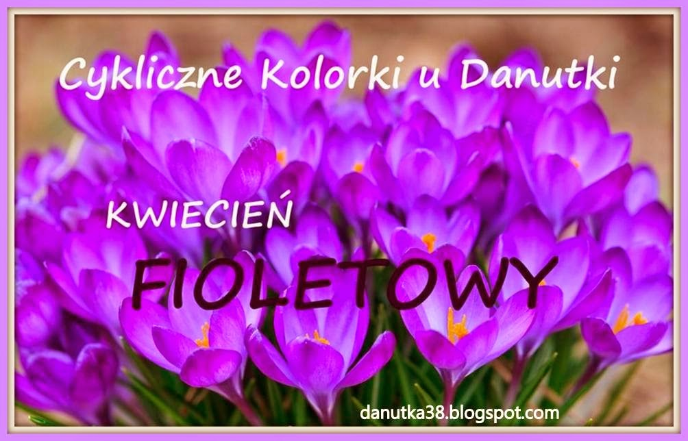 Cykliczne Kolorki u Danutki - Kwiecień fioletowy