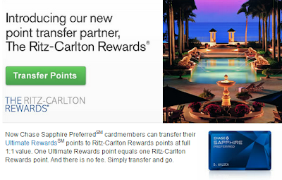 Transfer Your Chase Ultimate Rewards Points To The Ritz Carlton Rewards Program