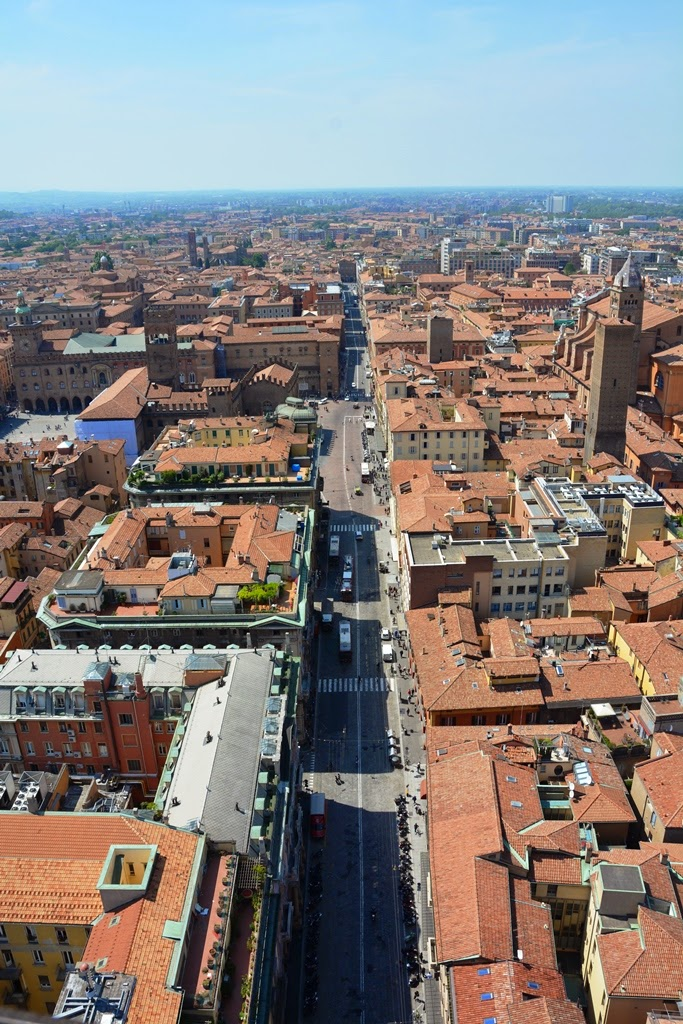 Asinelli Tower Bologna main street