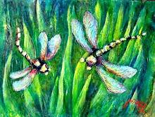 Libellules - Inspiration Art Nouveau - Jicé