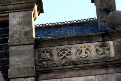 Masonic Hall St.Austell Cornwall Symbols