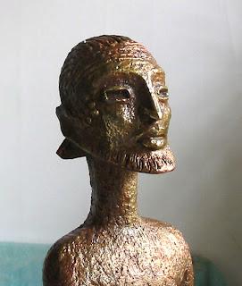 visage du guerrier, art afric ain