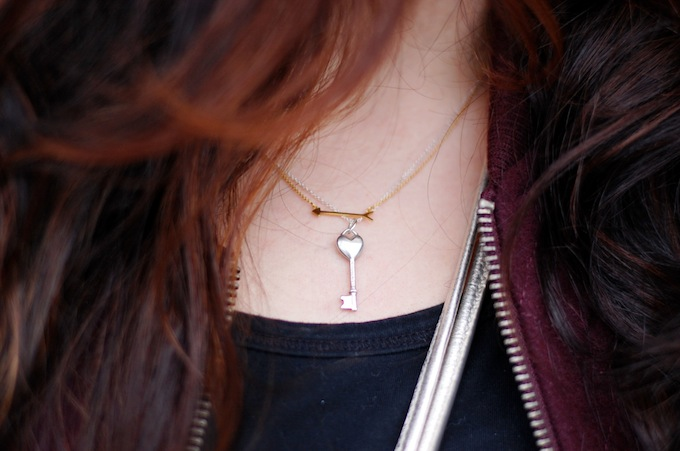 Tiffany & Co. heart key pendant and Stella & Dot necklace Covet and Acquire