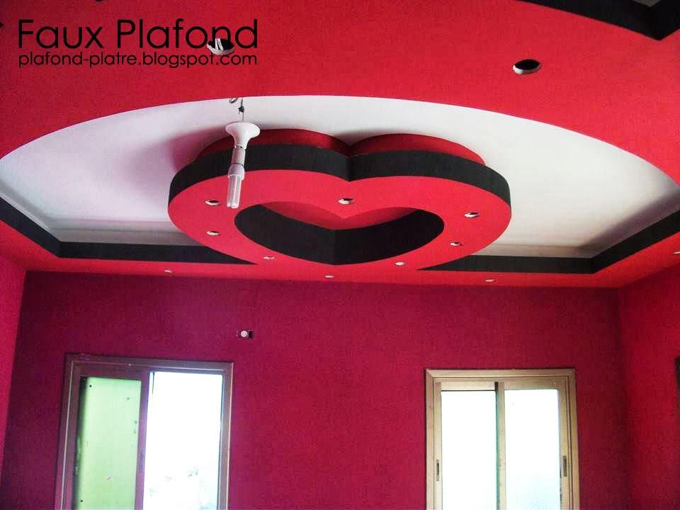 Décoration Faux plafond en style de cœur 2014 - Faux Plafond Idéal