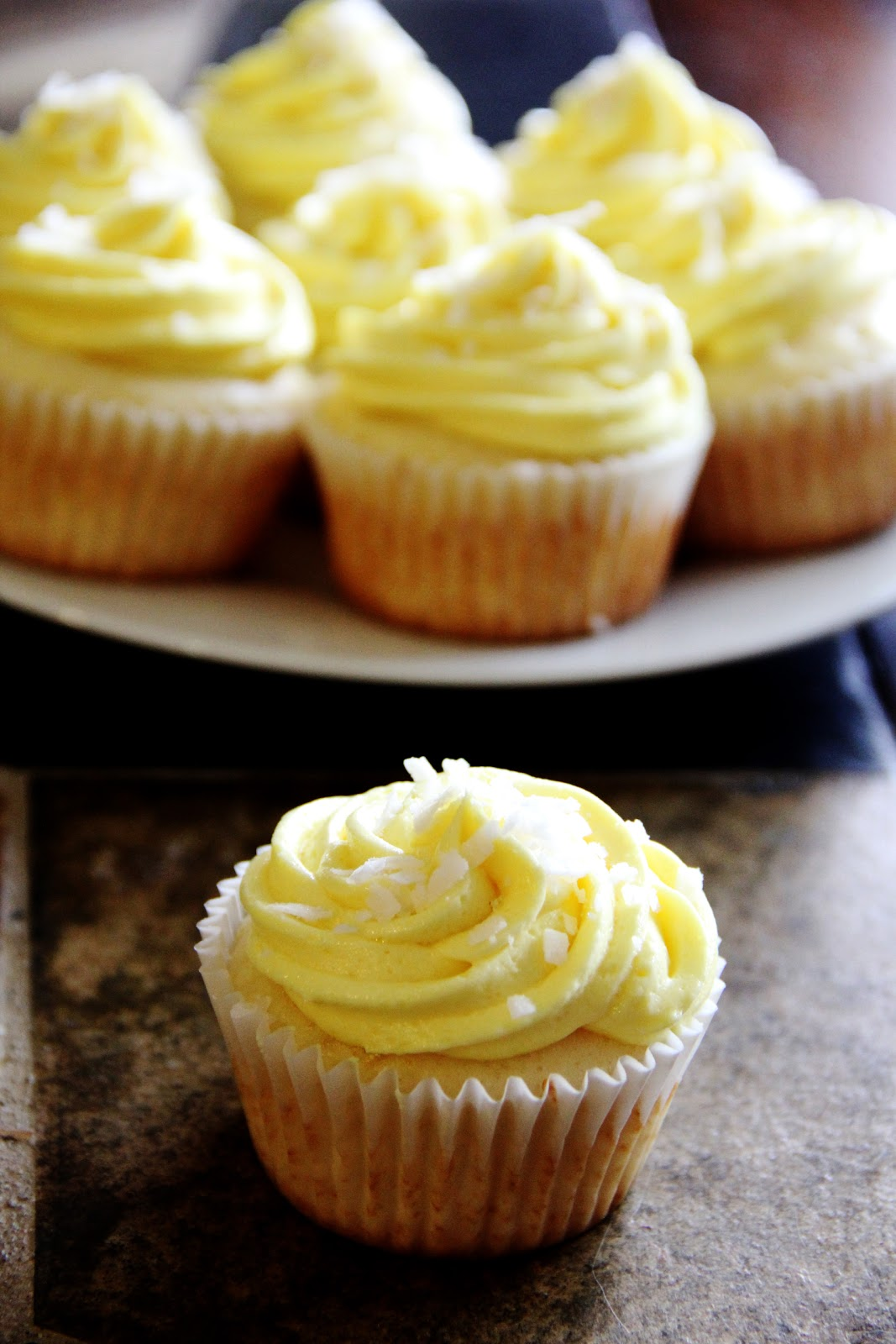 Frosted: Pina Colada Cupcakes with Coconut Buttercream Frosting