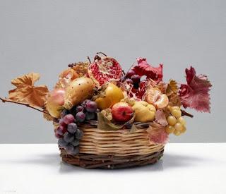 Fruteros Canastas Frutas en Pintura