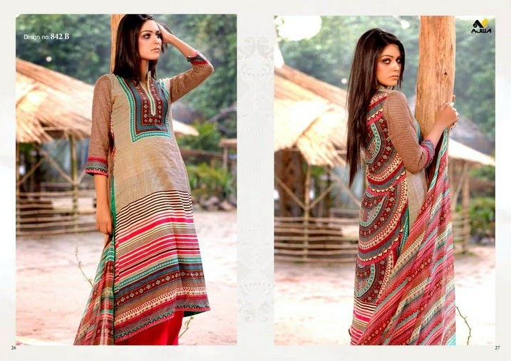 Semi Embroidered Chiffon lawn Collection