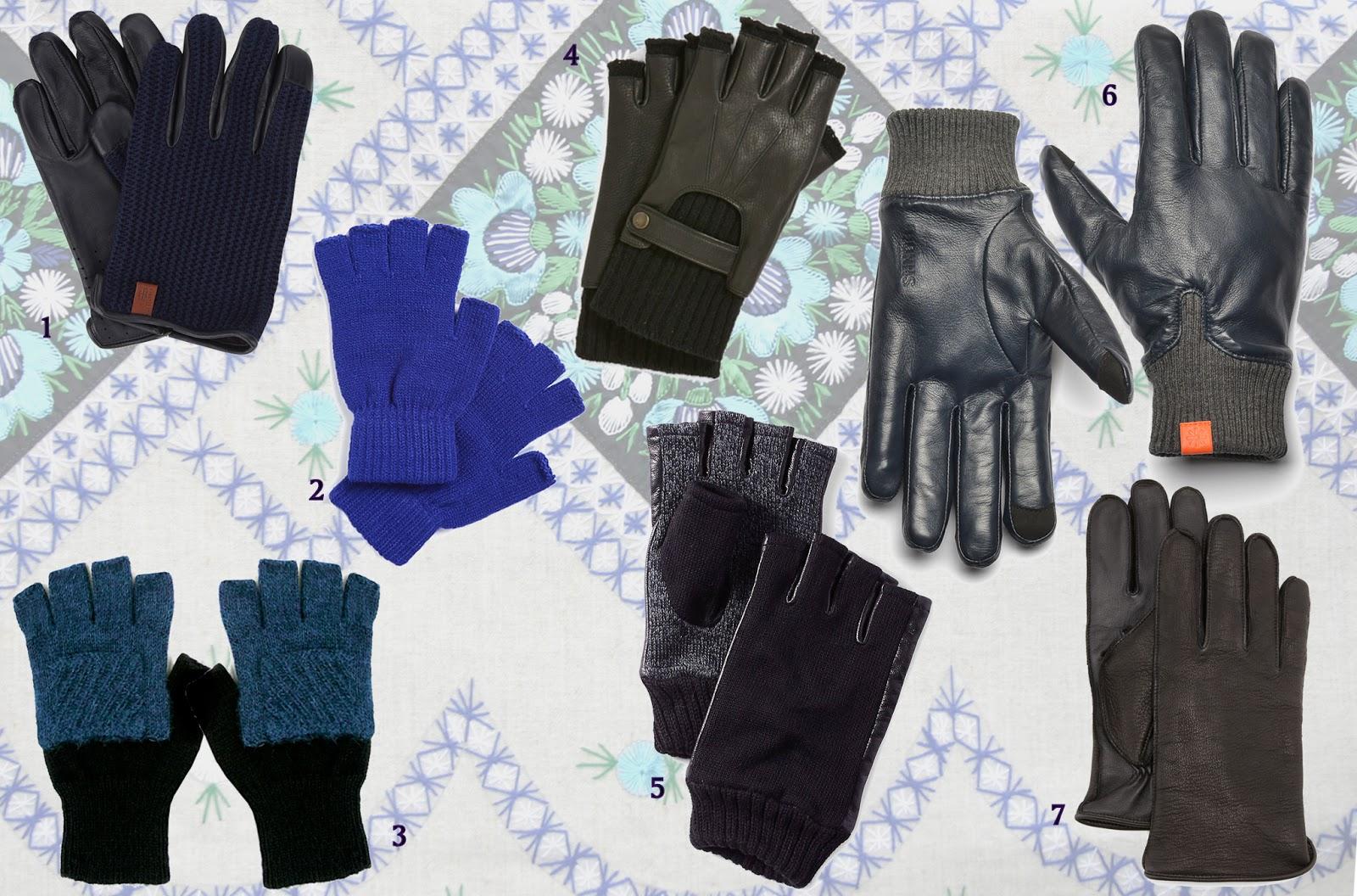 Kid leather driving gloves - Original Penguin Knit And Leather Driving Gloves 80