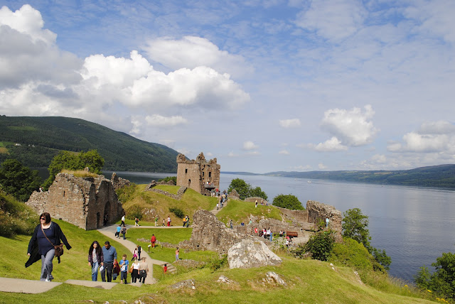 Loch Ness, Scotland and Urquhart Castle