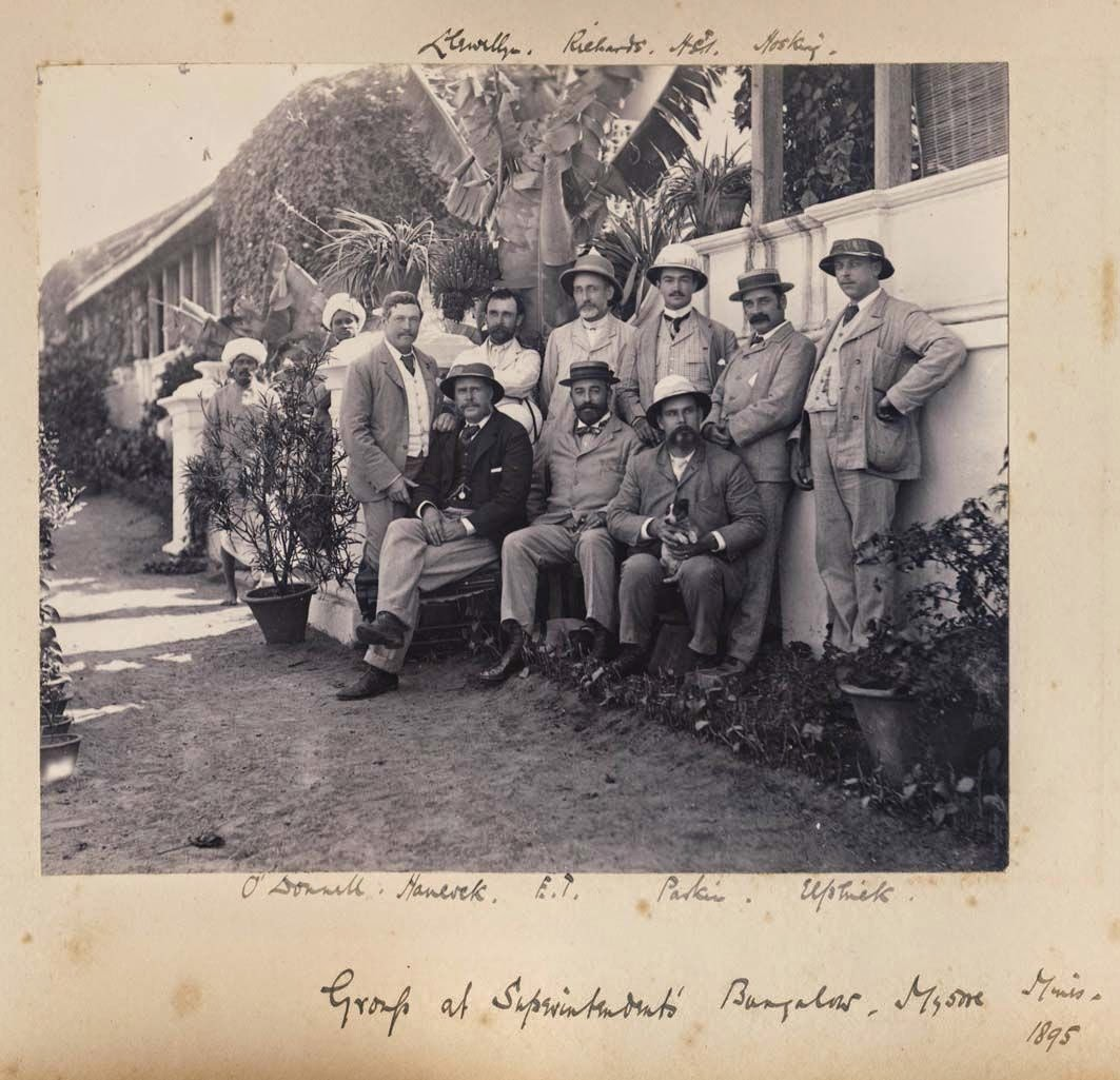 Group at Superintendent's Bungalow - Mysore Mines, Karnataka 1895