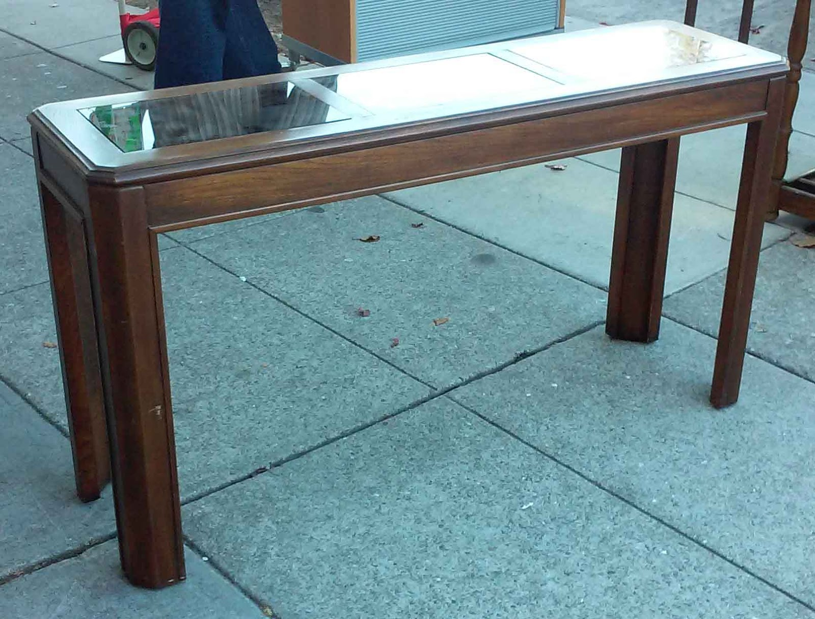 Uhuru furniture collectibles sold 70 39 s style sofa table for Furniture 70s style