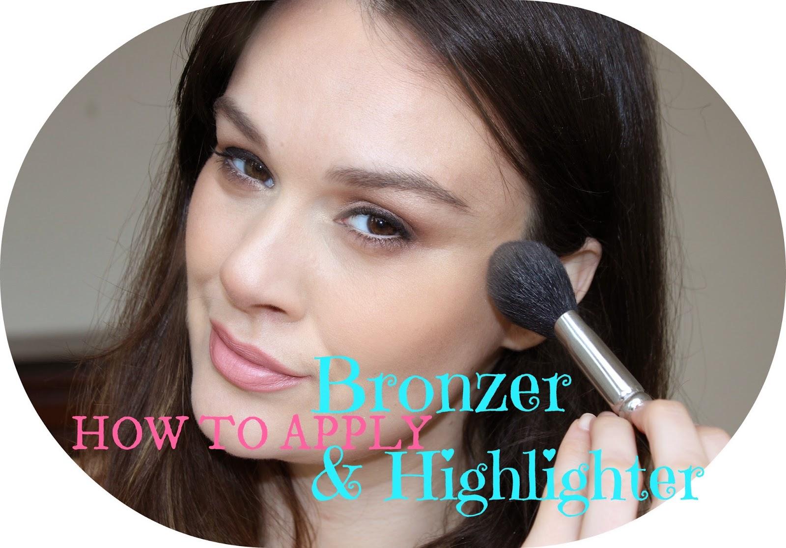 Beautiful Me Plus You: How To Apply Bronzer & Highlighter Tutorial How To Apply  Bronzer How To Apply Blush To Black Skin