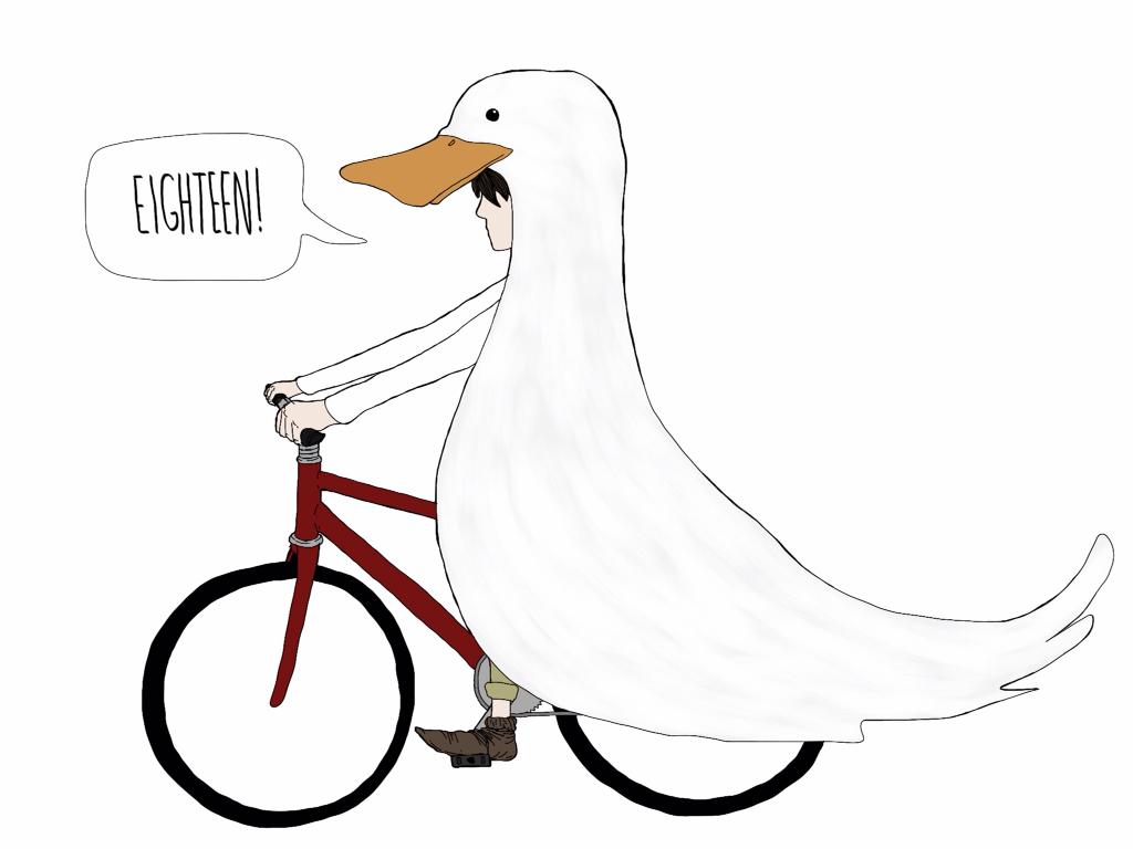 duck cap bike riding