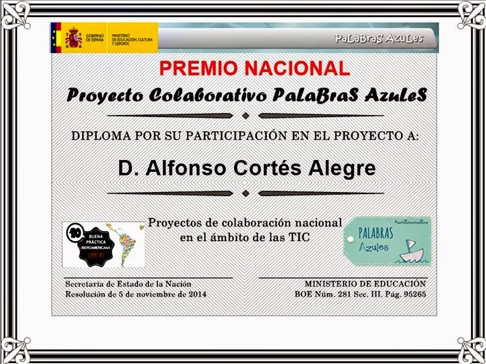 Proyecto premiado. MEC 2014