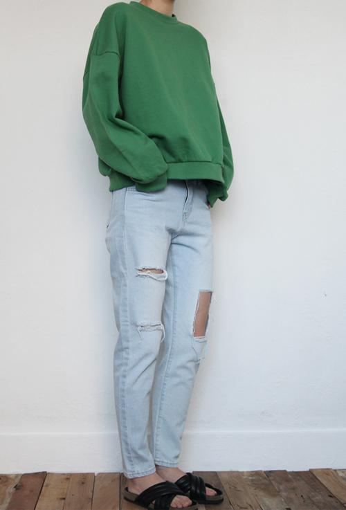 [Blackfit] Light Grunge Denim | KSTYLICK - Latest Korean Fashion | K-Pop Styles | Fashion Blog