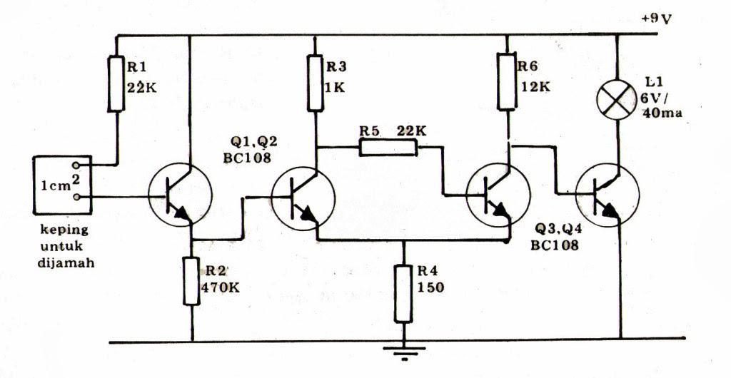 blognya anak kampung  gambar rangkaian mixer audio dan lampu flip flop