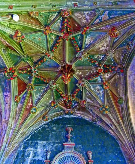 Lady Chapel, ceiling, St Cyriac's, Lacock, Wiltshire