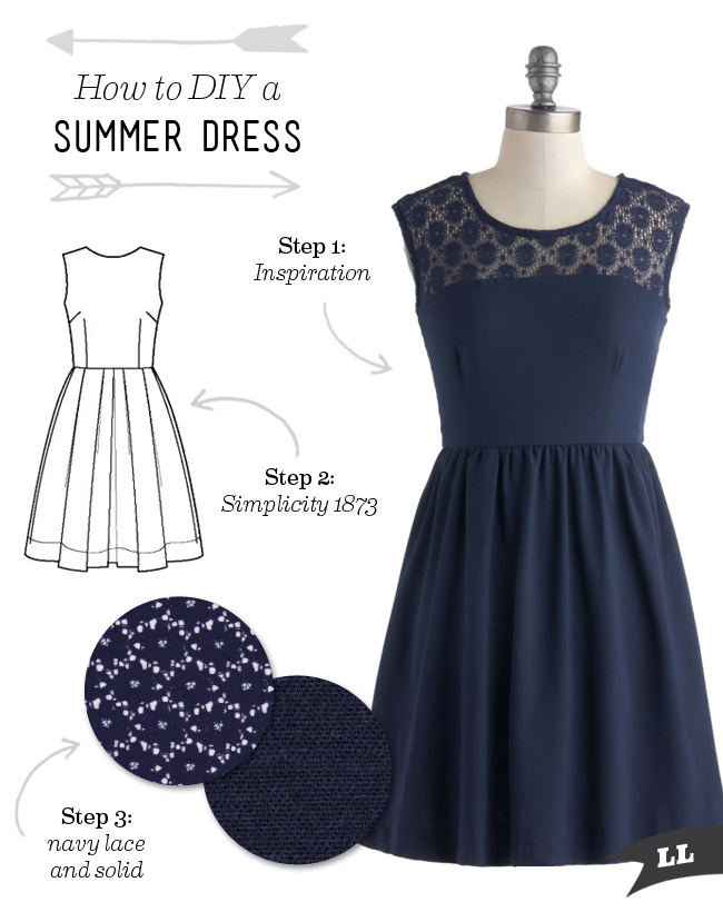 Making a summer dress step by step