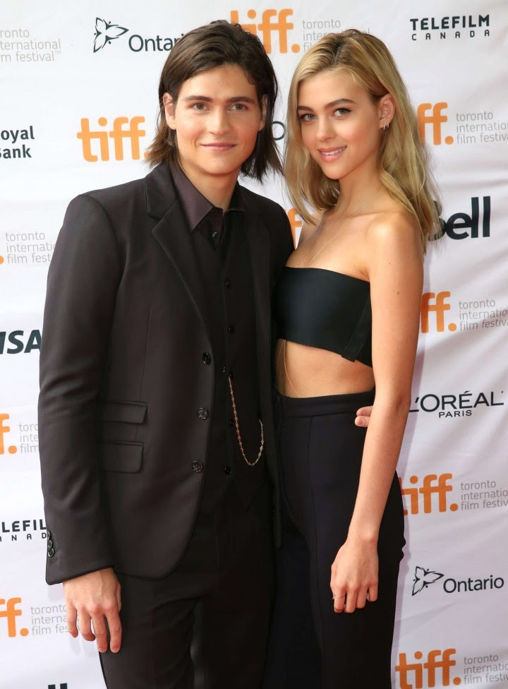Nicola Peltz flaunts black bralet and trousers at the 'Men, Women, and Children' Toronto International Film Festival premiere