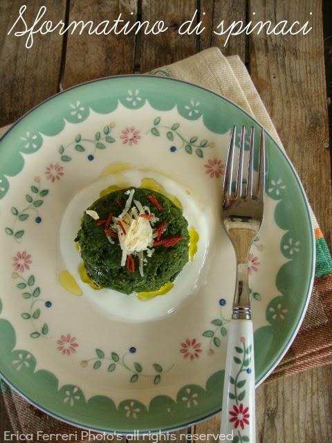 Ricetta Sformatino di spinaci con il trucco