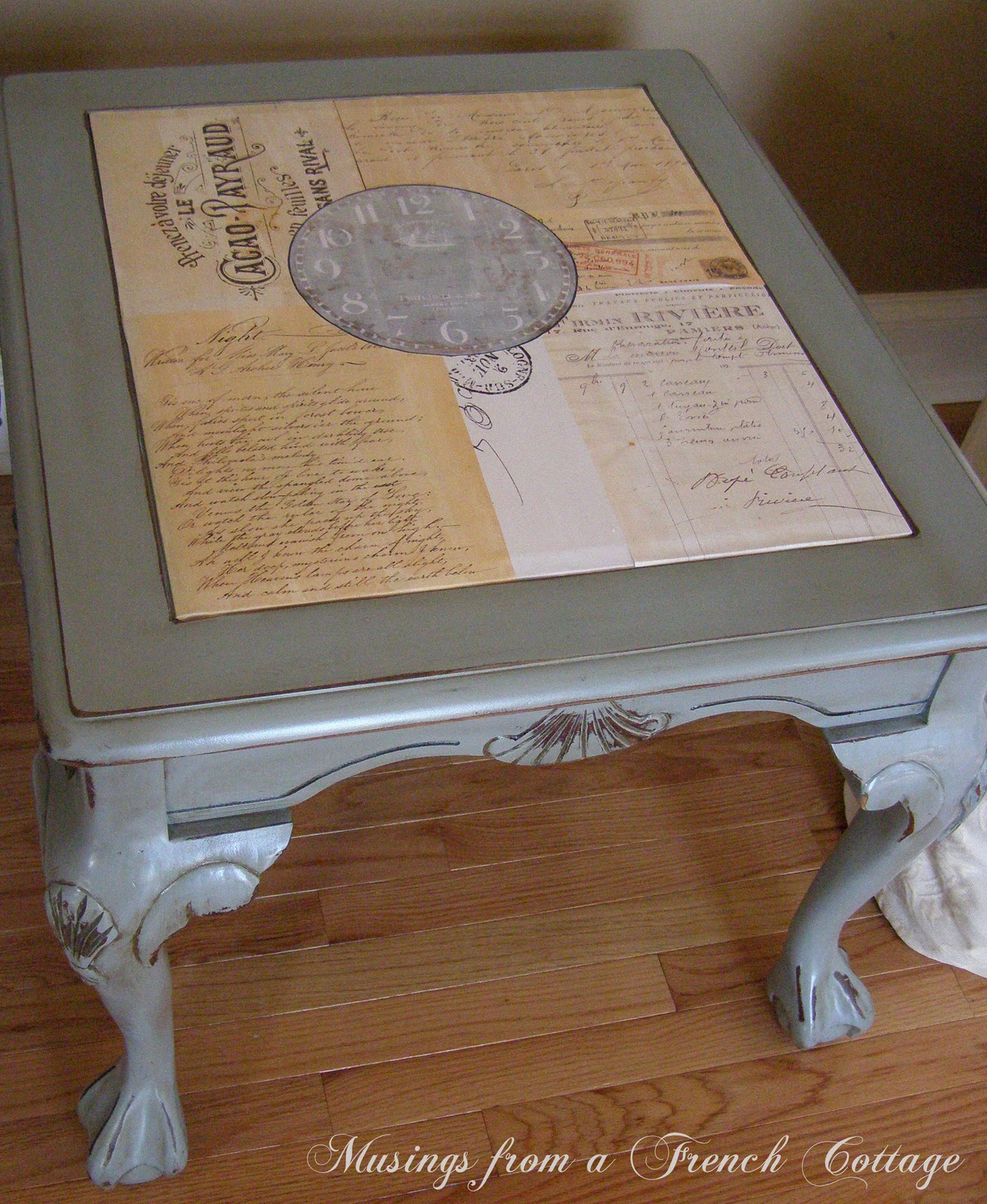 Musings From A French Cottage Claw Foot Table Makeover and French