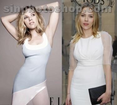 Scarlett Johansson sin Photoshop