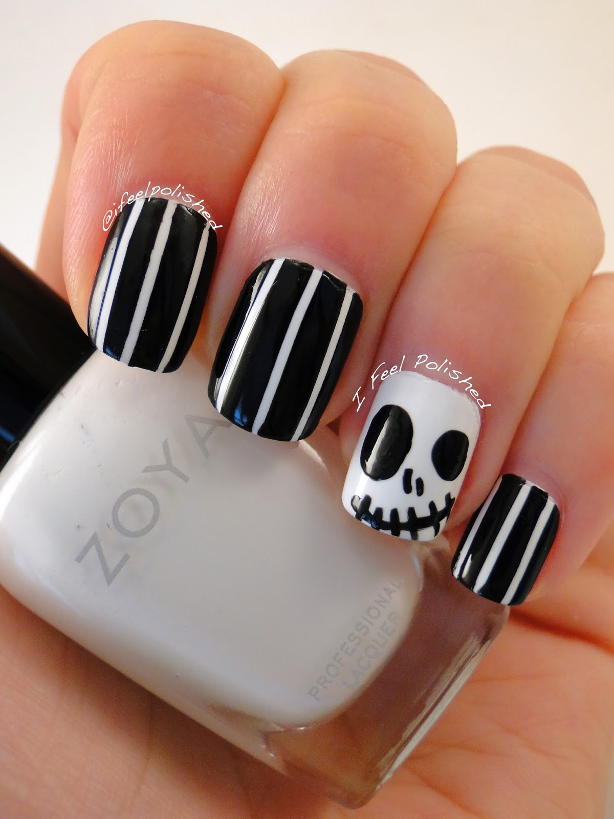 Jack Skellington Halloween Nails