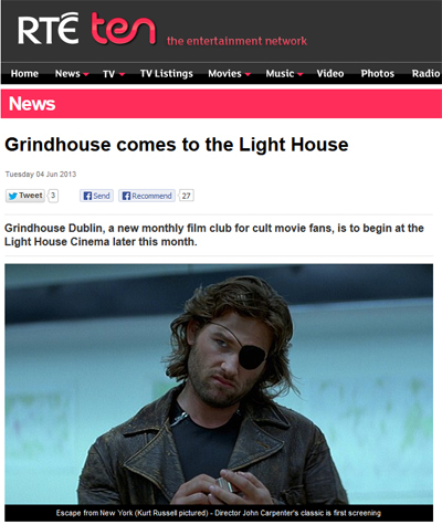 grindhouse dublin featured on the rte website