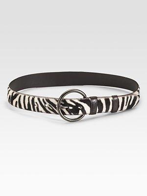 Zebra print Cavallino belt