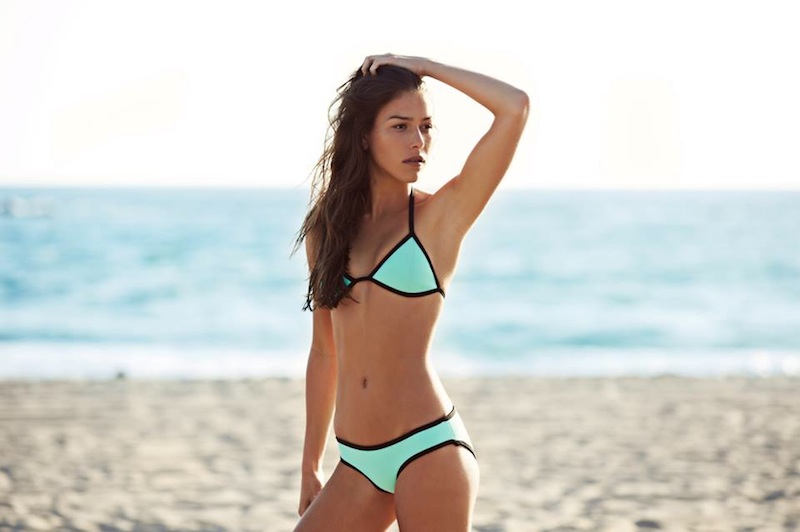 triangl swimwear, Australian label, Triangl, neoprene, sports luxe