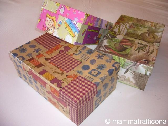 Mammatrafficona riciclare le scatole delle scarpe - Riciclare scatole ...