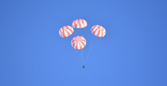 SpaceX tests crew Dragon parachutes. Credit: SpaceX