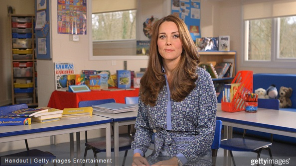 The Duchess of Cambridge records video message in support for Place2Be