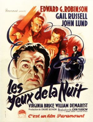 Night Has A Thousand Eyes French Film Poster