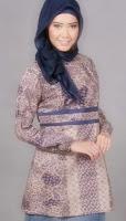 model baju batik kerja kantor model baju batik wanita modern 2013