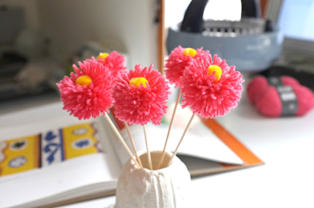 fleurs DIY pompons julie adore bouquet