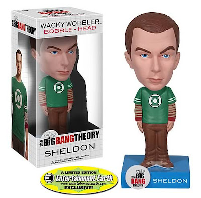 The Big Bang Theory Bobble Heads by Funko - EntertainmentEarth.com Exclusive Green Lantern T-Shirt Variant Sheldon