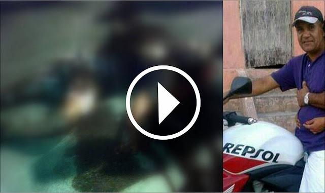 Câmera flagra homem sendo executado a facadas em Nossa Senhora das Dores